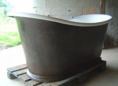 Baignoire en fonte ancienne r nov e recycl e baignoire fonte ancienne salle d - Peinture baignoire fonte ...