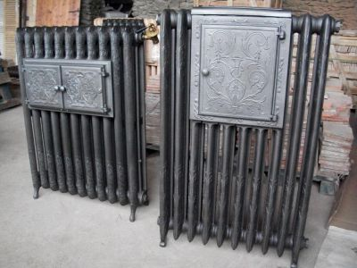chemin e en marbre reedition radiateur en fonte chauffe plat ancien b chu mat riaux anciens. Black Bedroom Furniture Sets. Home Design Ideas