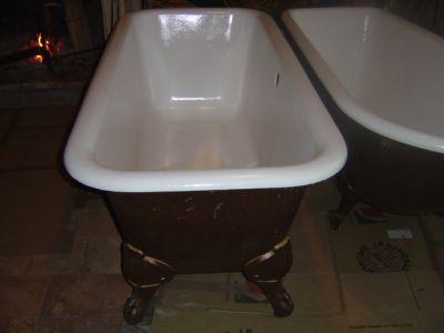 Peindre une baignoire en fonte maille affordable cool - Repeindre une baignoire avec resinence ...