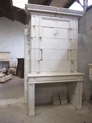chemin e en pierre ancienne ref 12 chemein e ancienne en pierre avec trumeau b chu mat riaux. Black Bedroom Furniture Sets. Home Design Ideas