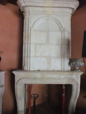 chemin e en pierre ancienne ref 11 chemin e ancienne en pierre avec trumeau b chu mat riaux. Black Bedroom Furniture Sets. Home Design Ideas