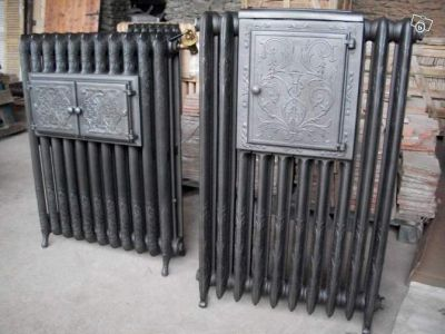 radiateur en fonte ancien chauffe plat rococo fleuri pays. Black Bedroom Furniture Sets. Home Design Ideas