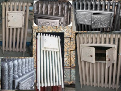 radiateur chauffe plat en fonte ancien rococo lisse d cor. Black Bedroom Furniture Sets. Home Design Ideas
